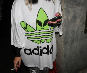 adidas, alien, and pale image