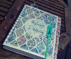 college, diary, and diy image
