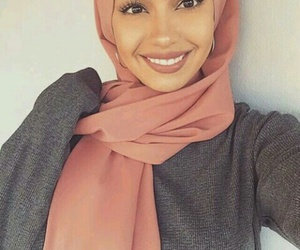 hijab, makeup, and muslim image