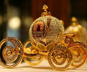 cinderella, gold, and carriage image
