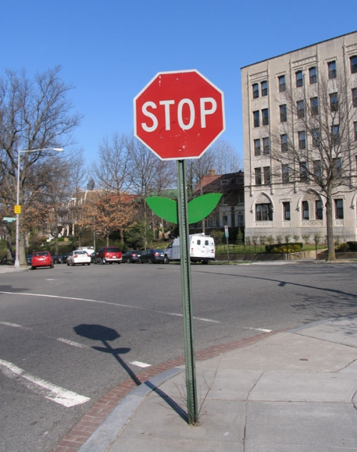flower, stop, and sign image