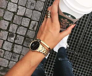 starbucks, style, and watch image