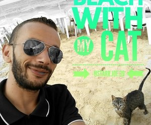 beach, cat, and quotes image