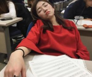 korean girl, sleep, and ulzzang image