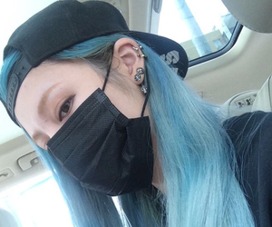 blue, asian, and hair image