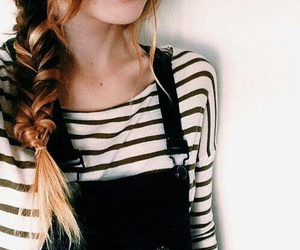 hair, outfit, and braid image