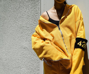 clothes, yellow, and dope image