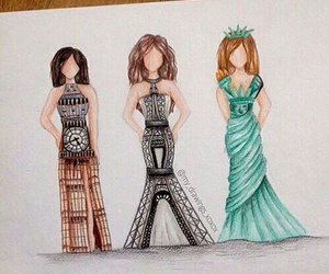 dress, london, and drawing image