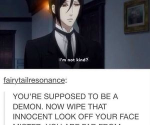 black butler, anime, and demon image