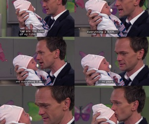Barney Stinson, how i met your mother, and baby image