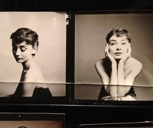 audrey hepburn, alternative, and b&w image