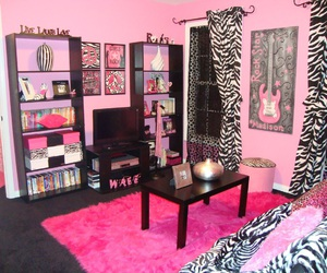 pink, room, and zebra image