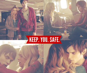 warm bodies, love, and zombie image