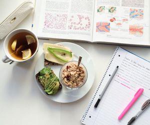 study, food, and tea image