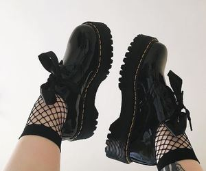 doc martens, inked, and shoes image