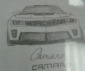art, cars, and Chevrolet Camaro image