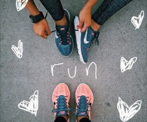 nike, fitness, and run image