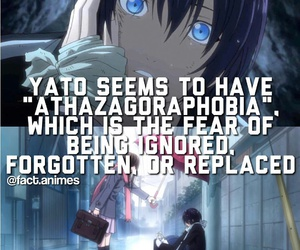 anime, athazagoraphobia, and yato image