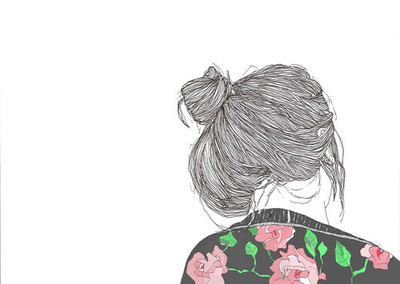 bun drawing fashion girl hair jacket inspiring picture on picship com