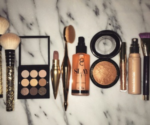 Brushes, contour, and cosmetics image