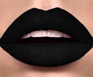 lips, black, and beautiful image