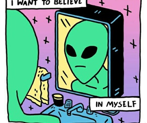 alien, believe, and green image