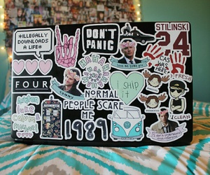 cool, laptop, and stickers image