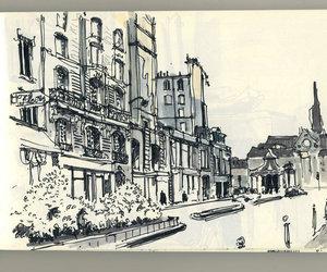 drawing, moleskine, and paris image