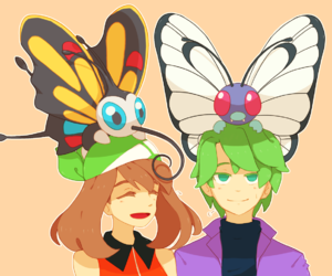 aura, butterfly, and pokemon image