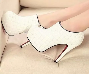 white high heels image