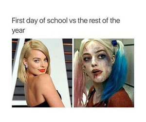 suicide squad, school, and harley quinn image
