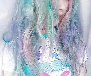 hair, grunge, and pastel image