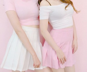pink, style, and kfashion image
