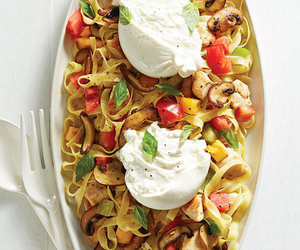 food, creme fraiche, and mushrooms image