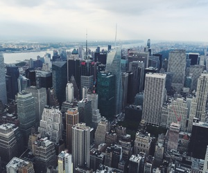 big apple, blue, and city image
