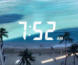 beach, blue, and hawaii image