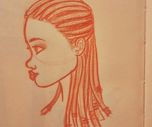 art, colors, and braids image