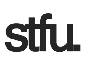 stfu, text, and word image