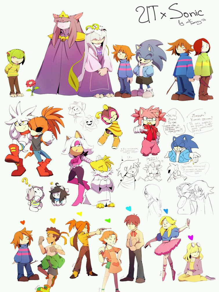 Sonic The Hedgehog X Undertale 3 On We Heart It
