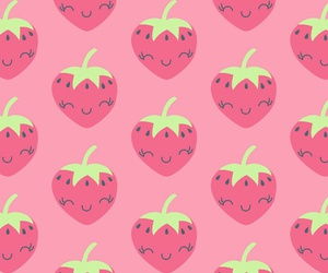 strawberry, pattern, and rosa image