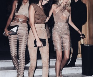 model, Balmain, and Nude image