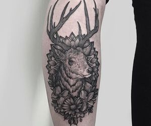 awesome, deer, and ink image