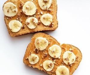 banana, peanut butter, and toast image