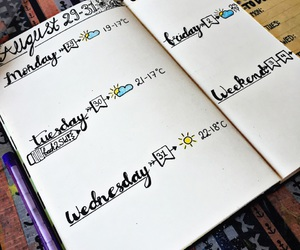 inspo, study, and bullet journal image