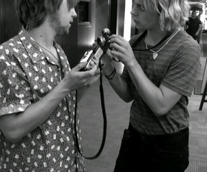 black and white, camera, and r5 image