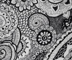 flowers, art, and henna image