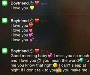 boyfriend, couple, and text image