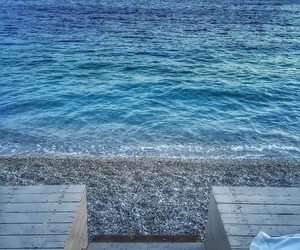 beach, blue, and memories image