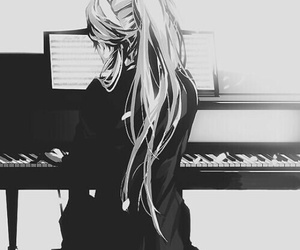 piano, anime, and manga image