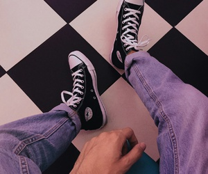 converse, grunge, and aesthetic image